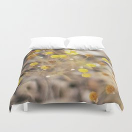 Abstract Botanical - Billy Buttons Duvet Cover