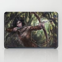 katniss iPad Cases featuring Katniss by jasric
