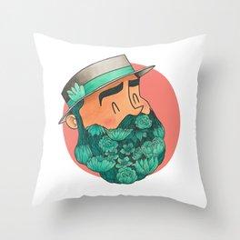 Barbaturquoise Throw Pillow