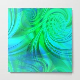 Infinite Loop (green-blue) Metal Print