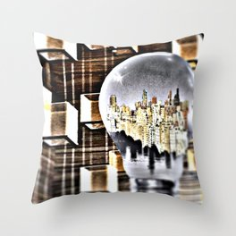 BETWEEN THE DARK AND THE LIGHT Throw Pillow