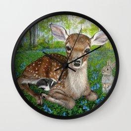Forest Friends Wall Clock
