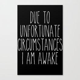 unfortunate circumstances in b&w Canvas Print