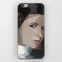 princess leia iPhone & iPod Skins featuring Princess Leia  by Topaz Arrow