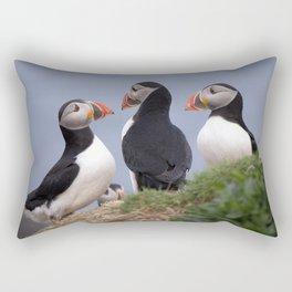 A Contemplation of Puffins Rectangular Pillow