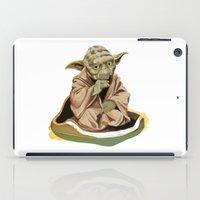 yoda iPad Cases featuring Yoda by Rocío Gómez
