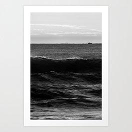 Dark voice of waves Art Print