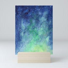 Northern Lights Sky Galaxy Mini Art Print
