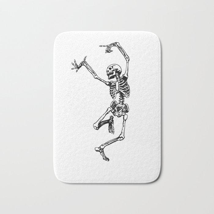 DANCING SKULL Bath Mat