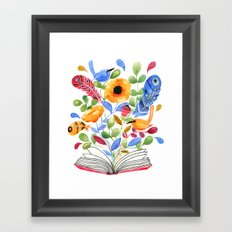 My Book of Thoughts Framed Art Print