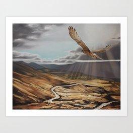 Cardrona valley Art Print
