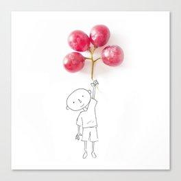 Grapes Ballons Canvas Print