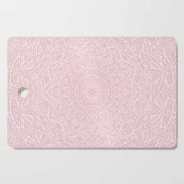 Most Detailed Mandala! Rose Gold Pink Color Intricate Detail Ethnic Mandalas Zentangle Maze Pattern Cutting Board