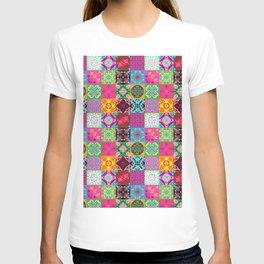 Bohemian Jungle Quilt Tiles T-shirt