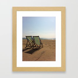 Benches of Bournemouth Framed Art Print