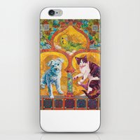 golden girls iPhone & iPod Skins featuring Golden Temple of the Good Girls by Susan Carlson