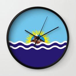 Flag of Santa Cruz Wall Clock