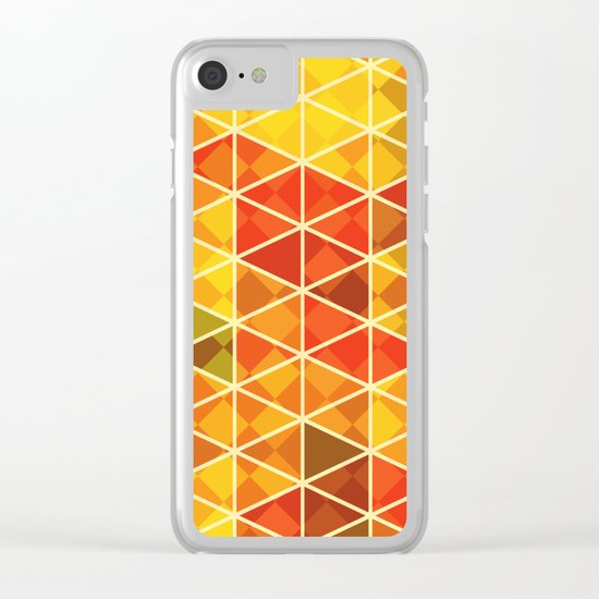 Sunset pattern wall art Clear iPhone Case