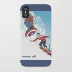 Stark Spangled Sledding (Recipe for a Concussion) iPhone X Slim Case