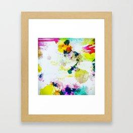 Abstract Paint Splatter Art Framed Art Print