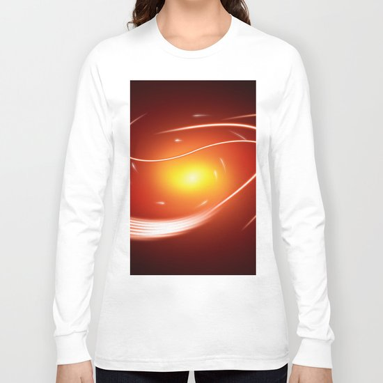 Red Glow Lines Long Sleeve T-shirt