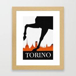 Vintage Torino or Turin Italy Travel Poster Framed Art Print
