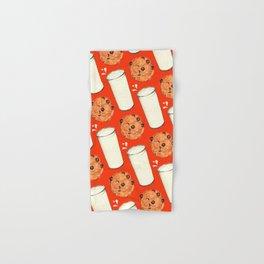 Milk & Cookies Pattern - Red Hand & Bath Towel