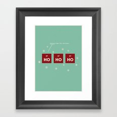 Ho Ho Ho, Holmium Framed Art Print