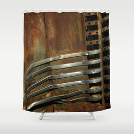 Detail Rusted International Truck 2 Shower Curtain