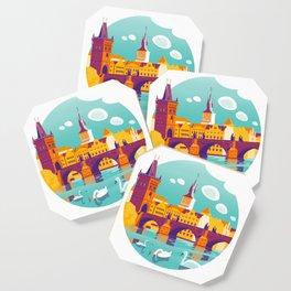 Prague and swans Coaster