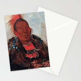 Wah-ro-née-sah, The Surrounder by George Catlin Stationery Cards