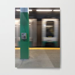 Train passing by Metal Print
