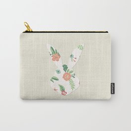 Head Rabbit Rose Carry-All Pouch