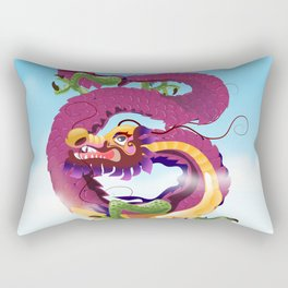 Beijing China Dragon travel poster Rectangular Pillow