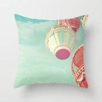 carnival Throw Pillows featuring Carnival  by Scarlett Ella