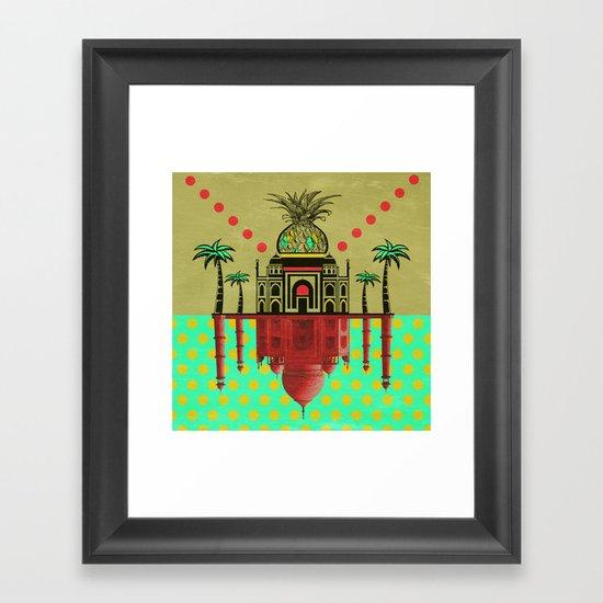 pineapple architecture 2 Framed Art Print