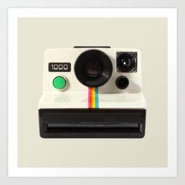 Retro 80's objects - Instant Camera Art Print