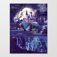 Canvas Prints featuring Never a Quiet Year at Hogwarts by Anne Lambelet