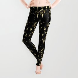 Gold Ornaments Pattern Leggings