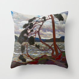Tom Thomson - The West Wind - Canada, Canadian Oil Painting - Group of Seven Throw Pillow