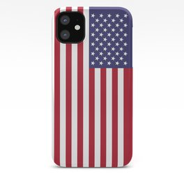 USA flag iPhone Case
