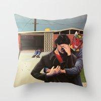 mid century modern Throw Pillows featuring Mid Century Modern by Popcorn Jones