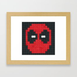 Deadpool 8-bit Framed Art Print