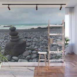 Grey cairns Beach Wall Mural