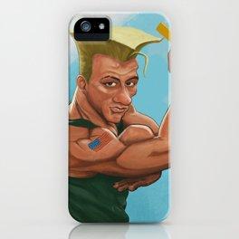 Jean Claude Van Guile - Street Fighter iPhone Case