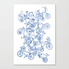 Bicycle crowd Canvas Print
