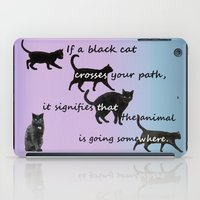 marx iPad Cases featuring Black cat crossing by IvanaW