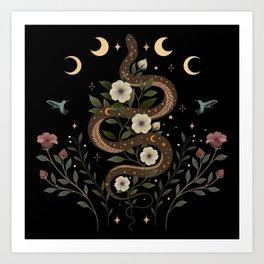 Serpent Spell Art Print