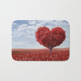 Tree heart Bath Mat