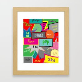 What Are You Listening To? Framed Art Print
